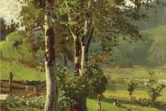 P. Fragiacomo- I noci, 1882. Olio su tela, cm. 87 x 55, firmato e datato in basso a destra : P.Fragiacomo 1882.