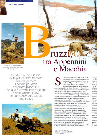 "2002, ottobre-novembre, Bruzzi tra Appennini e Macchia, in ""STILEarte"", A.VII N.62, pp. 20-21"