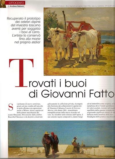 """2007, marzo, """"Trovati i buoi di Giovanni Fattori"""", in STILEarte, A.XII, N.106, pp.46-47"""